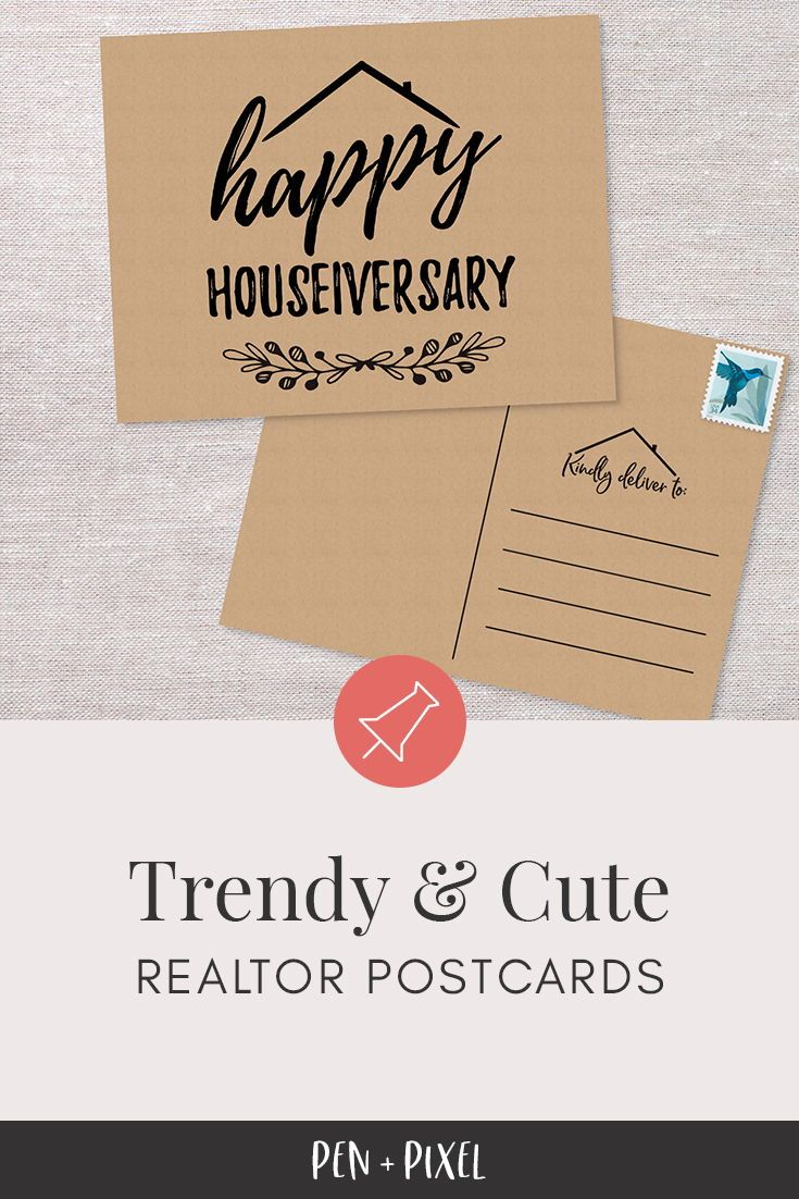 Real Estate Postcard, Happy Houseiversary, Anniversary Cards, Set of Cards, New Home, Handmade Cards, Home Anniversary