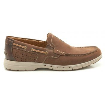 A summery slip-on package, these men's shoes take a nautical look and combine it with our lightweight, breathable Unstructured design. The mahogany leather upper is enhanced with contrast trims and leather linings while great underfoot comfort is assured thanks to an EVA midsole and a grippy rubber outsole. https://www.marshallshoes.co.uk/mens-c1/clarks-mens-unnautical-bay-mahogany-leather-casual-shoes-p1819