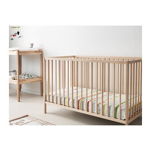 SNIGLAR Crib, beech beech 27 1/2x52