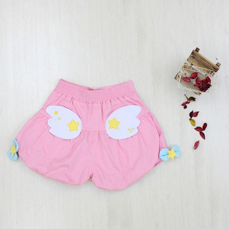 かぼちゃパンツ Pumpkin Pants 天使の羽後ろのポケットは天使の羽(ピンク)、悪魔の翼(ネイビー)、リボン(ミント)の三種類があります。こちらは【天使の羽】のページです。※不良品の場合は商品到着後七日間以内にご連絡ください。サイズ:Free Size着丈:38cmヒップ:97cmウェスト:67cm※ウェストはゴム仕様なので、多少伸びます。※かぼちゃパンツの裾にはゴムを入れて絞っています。撮影環境及びパソコンの色設定等により、写真と実際の商品とで若干の色の違いがあること、ご了承ください。※画像はパニエ着用しております、実際の商品は含めておりません。※サンプル写真・情報などはTwitterでご確認くださいませ。※発送について特に要求がない場合は定形外郵便で対応させていただきます。