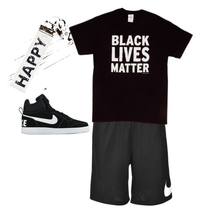 """Chillin  like a villain"" by ballislife96 ❤ liked on Polyvore featuring NIKE, men's fashion and menswear"