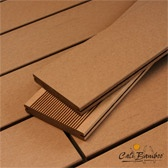 bamboo composite decking - this company also has cork flooring   http://www.calibamboo.com/bamboo-decking-caramel-composite.html