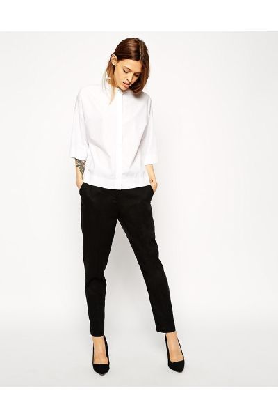 Asos Slim Cigarette Linen Trouser - The Fashion