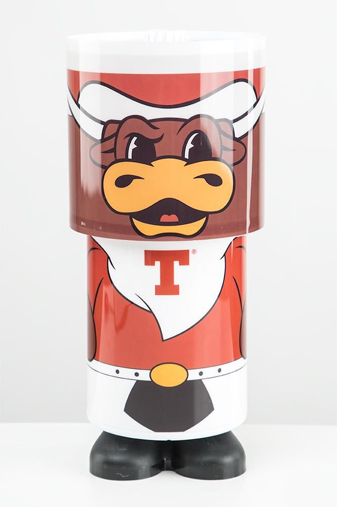 Light up your room in Burnt Orange pride with the Longhorn Mascot Projector Lamp Light! This Bevo desk lamp is perfect for little and big fans! Shop now!
