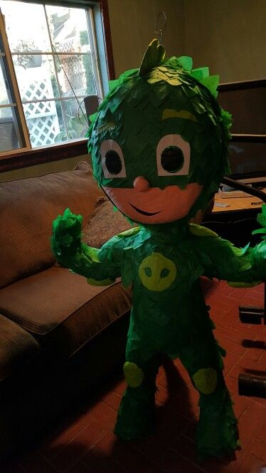 Pj masks pinata for my sons 2nd birthday party! They did such a great job!
