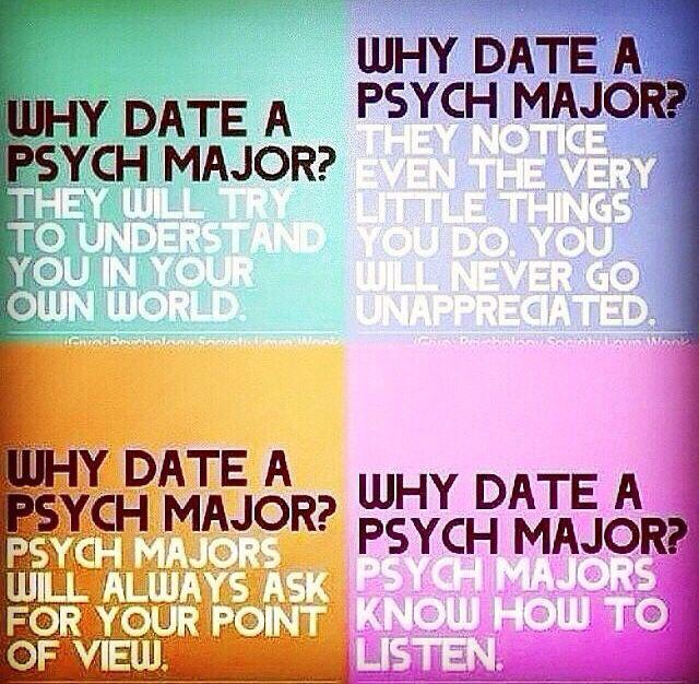 I'm a psych major!