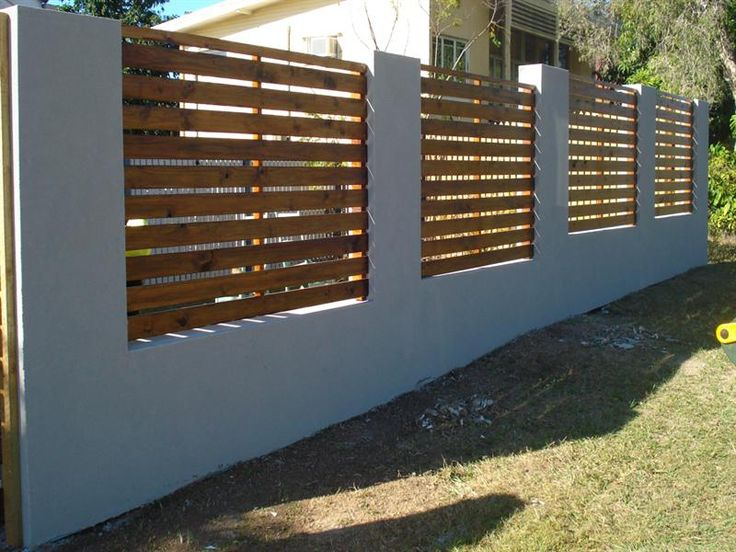 Rendered Fence With Timber Slats Google Search Ideas