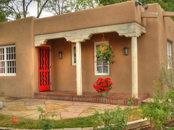 Another Beautiful Santa Fe Home With Just The Right Pops Of Color! |  Celebrar Casa Y Alimento | Pinterest | Beautiful, Adobe And Beautiful Homes Part 98