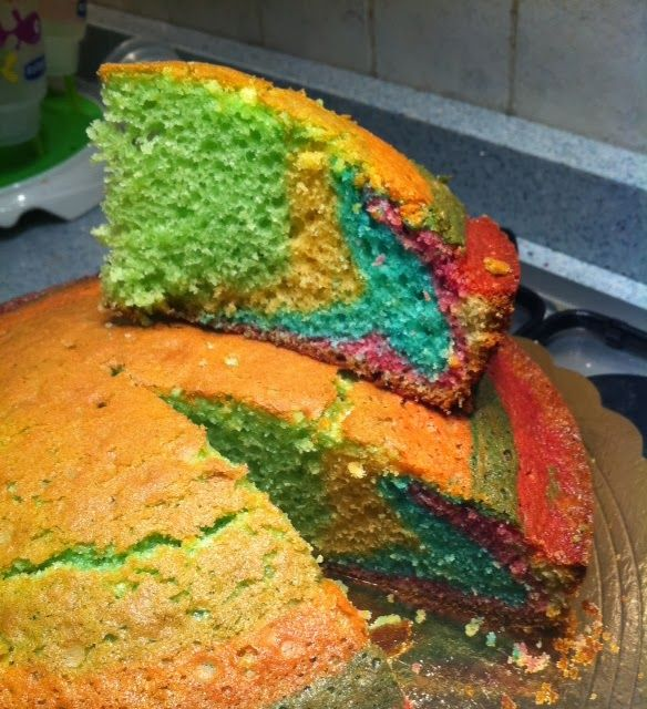 La torta arcobaleno!