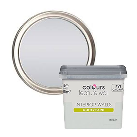 Colours Feature Wall Stardust Glitter Effect Emulsion Paint 1L | Departments | DIY at B&Q
