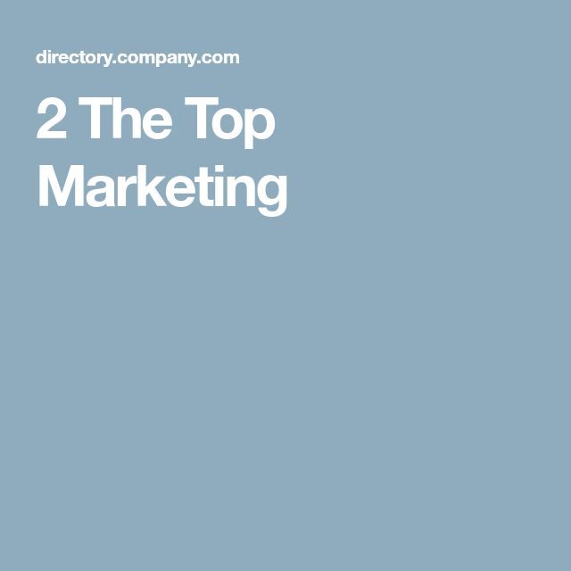 2 The Top Marketing