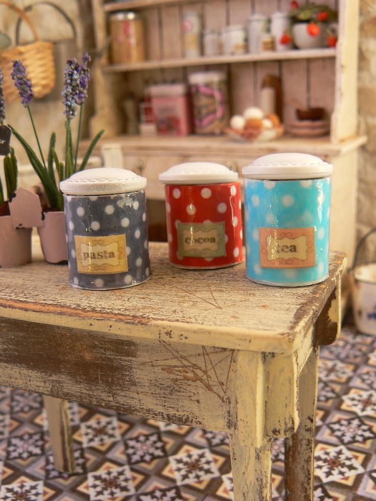 Image detail for kitchen jars dollhouse miniature