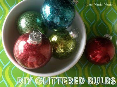 Home Made Modern: Copycat Craft: No-Mess DIY Glittered Bulbs