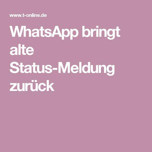 WhatsApp bringt alte Status-Meldung zurück