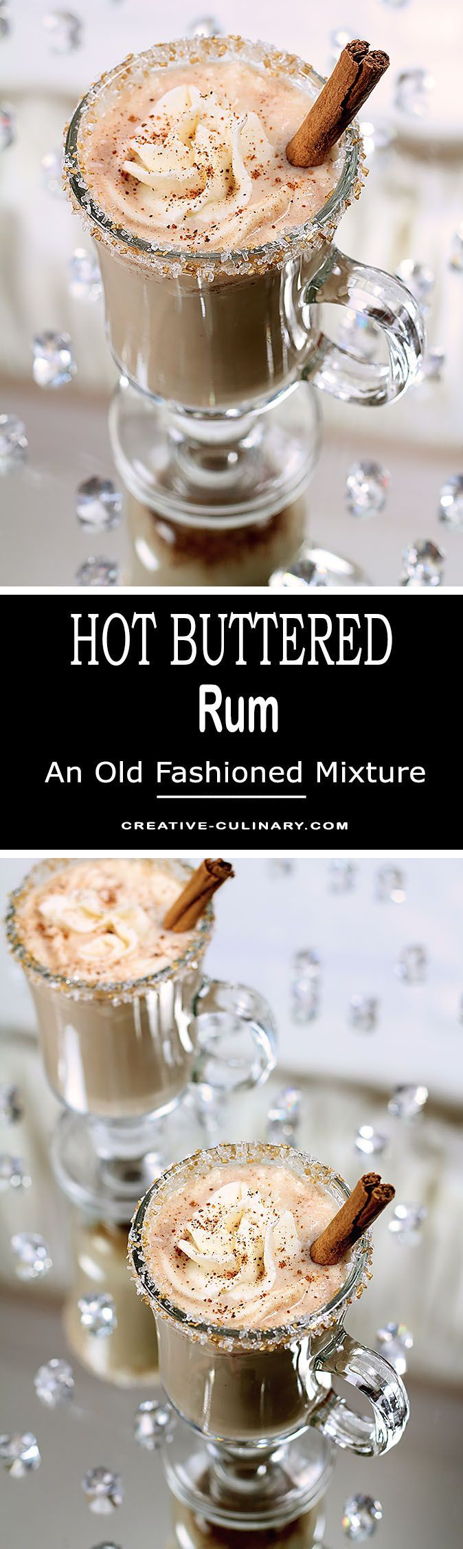 The Best Hot Buttered Rum is this recipe I've been making for years that starts with a vanilla ice cream and brown sugar batter. Simply warm and add rum and you'll be in heaven! via @creativculinary