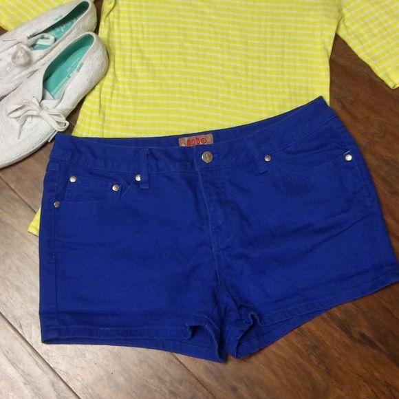 ROYAL BLUE SHORTS BY NO BOUNDARIES  Great pair of shorts in royal blue.. Perfect color for summer.. No Boundaries Jeans