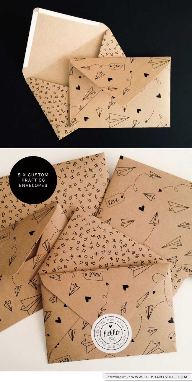 custom kraft envelopes ☆