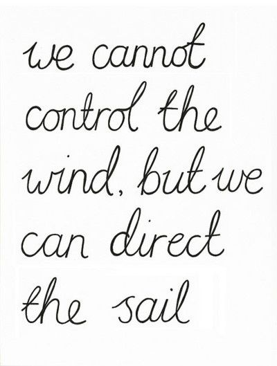 Direct the sail. That's all you have to do to be successful.