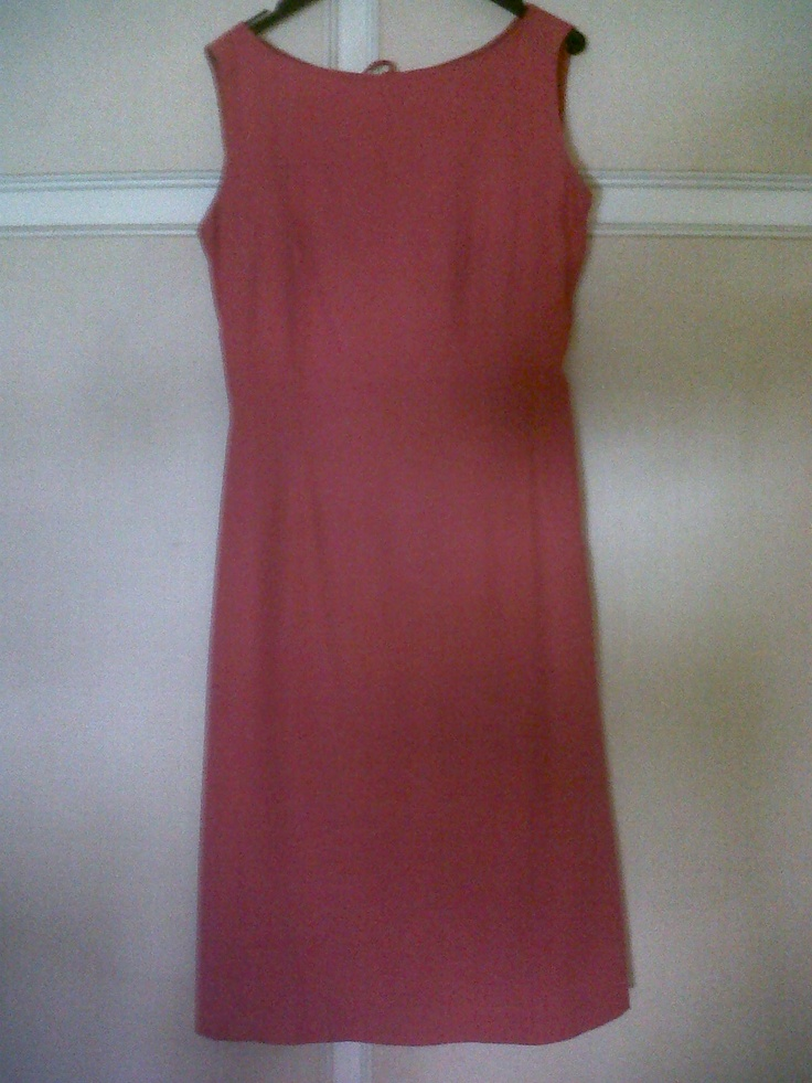 """50s """"red China"""" silk dress extremely nice on the back and shaped on front"""