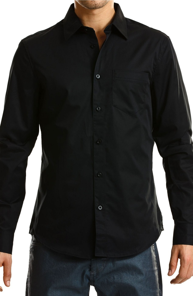 cotton basic shirt dress shirts mens armani exchange