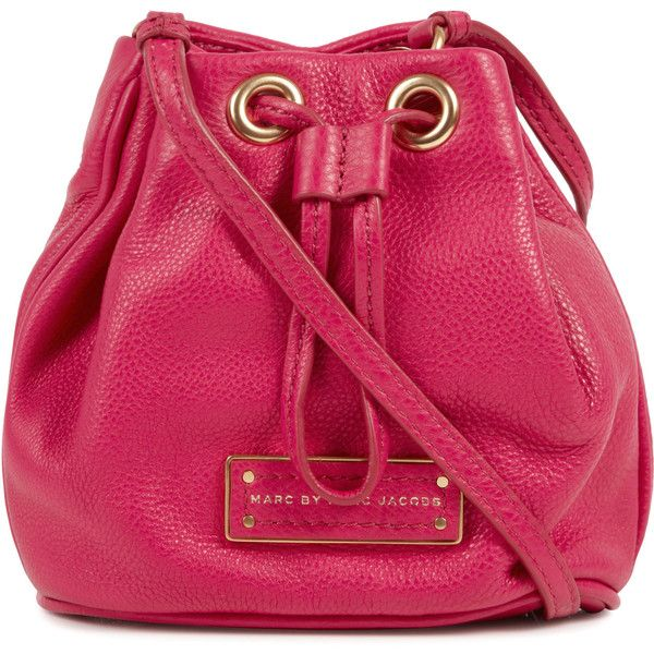 Marc By Marc Jacobs Too Hot Leather Mini Bucket Bag found on Polyvore