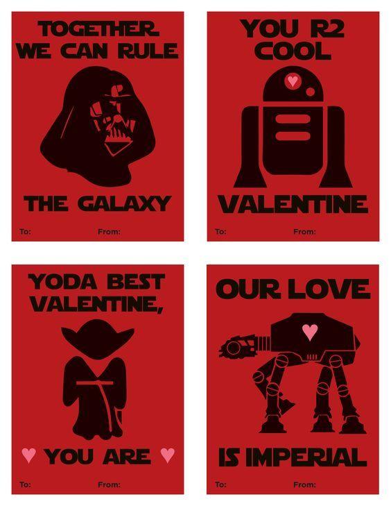 Free Printable Star Wars Valentines, Valentineu0027s Day 2016, Valentines  Wording, Star Wars Wording