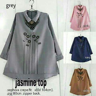 Jual Baju Wanita Kerja Jasmine Bordir Keren - http://www.butikjingga.com/baju-wanita-kerja-jasmine-bordir