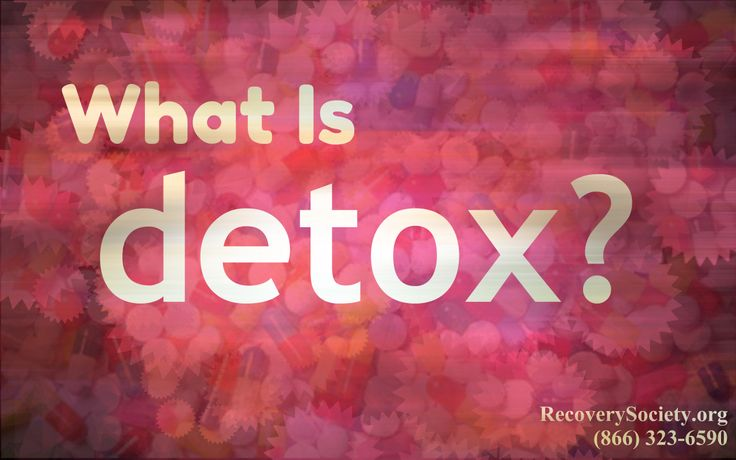 What exactly is detox? Most people think that they can quit their addiction on their own, but the dangers of that could lead to death. Call Recovery Society for help today at (866) 323-6590.