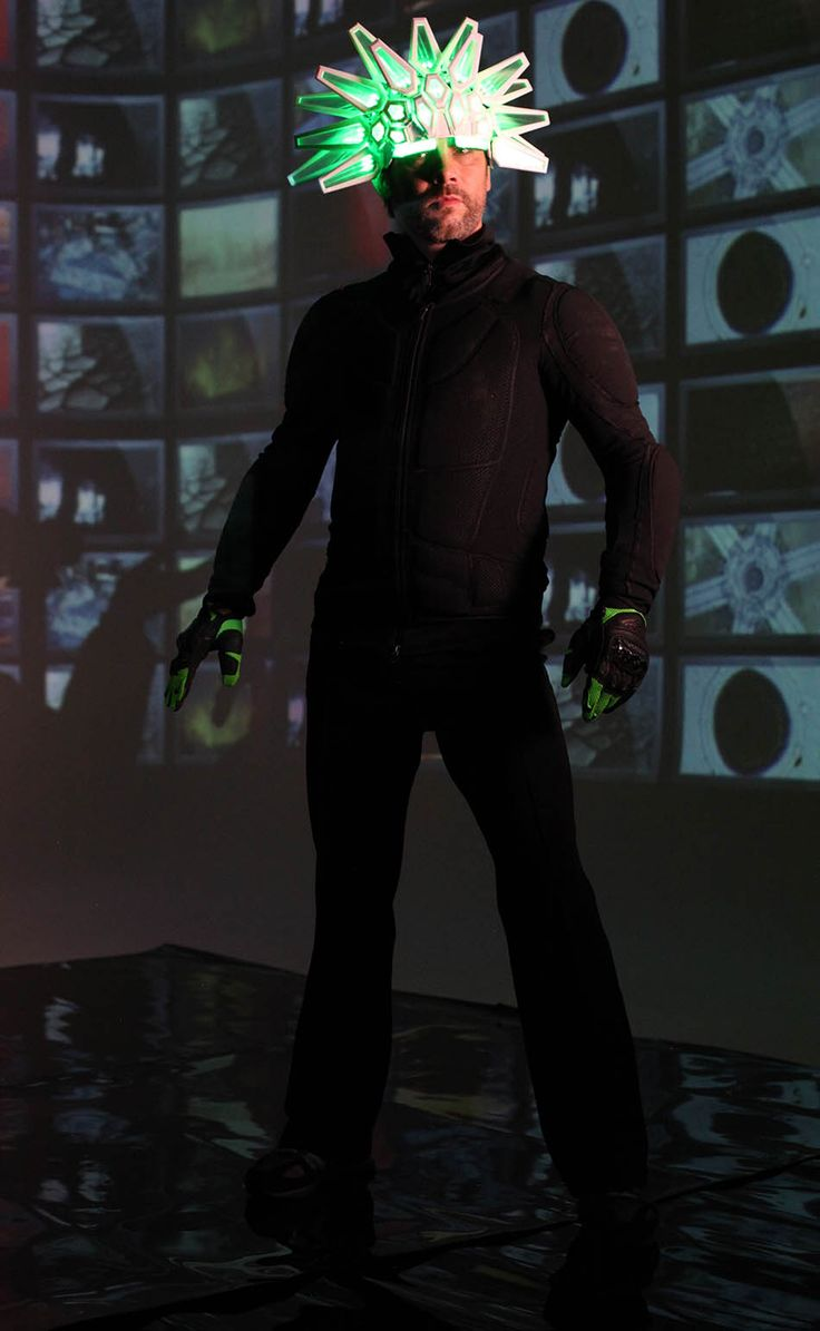 Moritz Waldemeyer creates 3D-printed light-up helmet for Jamiroquai frontman Jay Kay