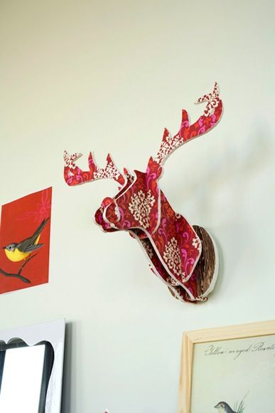Do it yourself, antlered deer decoration.