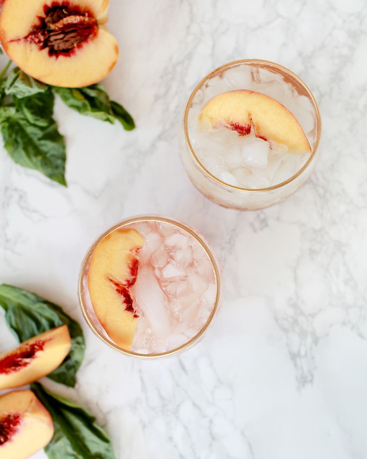 Best Cocktails of 2016: Peach-Basil Shrub Cocktail and Mocktail Recipe
