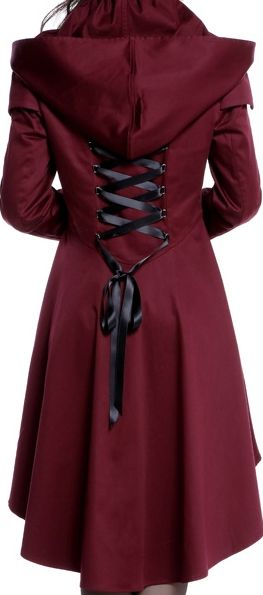Victorian Hooded Jacket by Amber Middaugh Standard Size $69.95 Plus Size $79.95