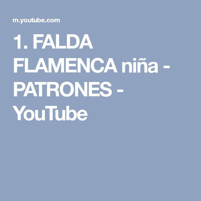 1. FALDA FLAMENCA niña - PATRONES - YouTube