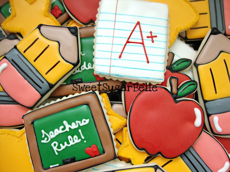 Teacher Appreciation Cookies: Back To Schools, Sugar Cookies, Notebooks Paper, Appreciation Cookies, Schools Cookies, Cookies Idea, Cookies Decoration, Decoration Cookies, Teacher Cookies