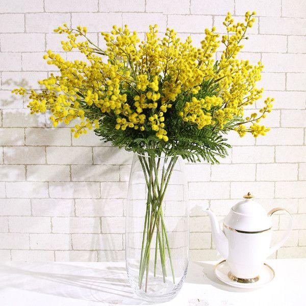 Acacia In 2020 Vase Display Artificial Flowers Fake Flowers