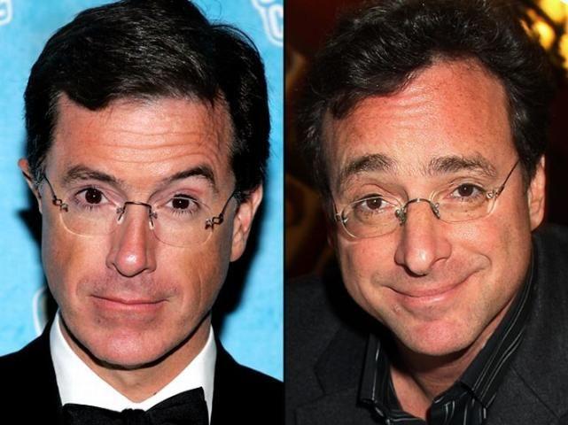 Stephen Colbert and Bob Saget look alike