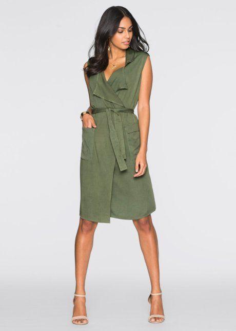 Robe portefeuille, BODYFLIRT, olive Plus