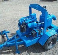 Used Thompson Trash Pump. Model 6HT. Self Priming. 3 Cylinder Deutz Diesel Engine.