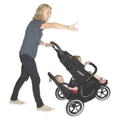 phil&teds Classic Inline Stroller with Second Seat - Black