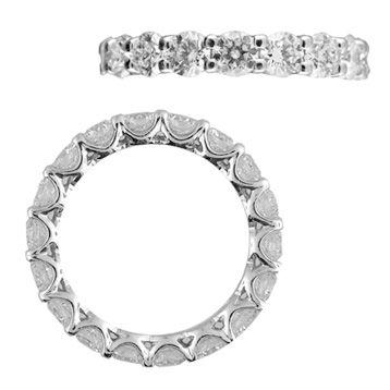 Platinum Diamond Shared Prong Eternity Wedding Band