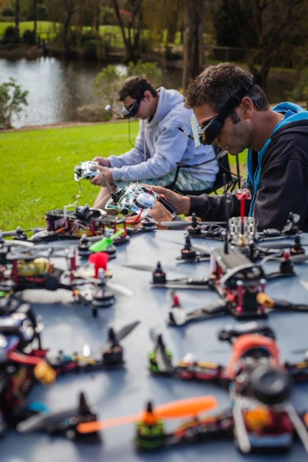 With the help of FPV goggles, pilots are transported to the miniature flight deck of their drone for the ultimate 'out of body' flying experience.
