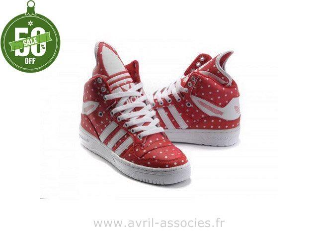 Adidas 2016 - Adidas M Attitude Logo W Homme et Femme Trainers - cramoisi blanc (Jogging Adidas Pas Cher)