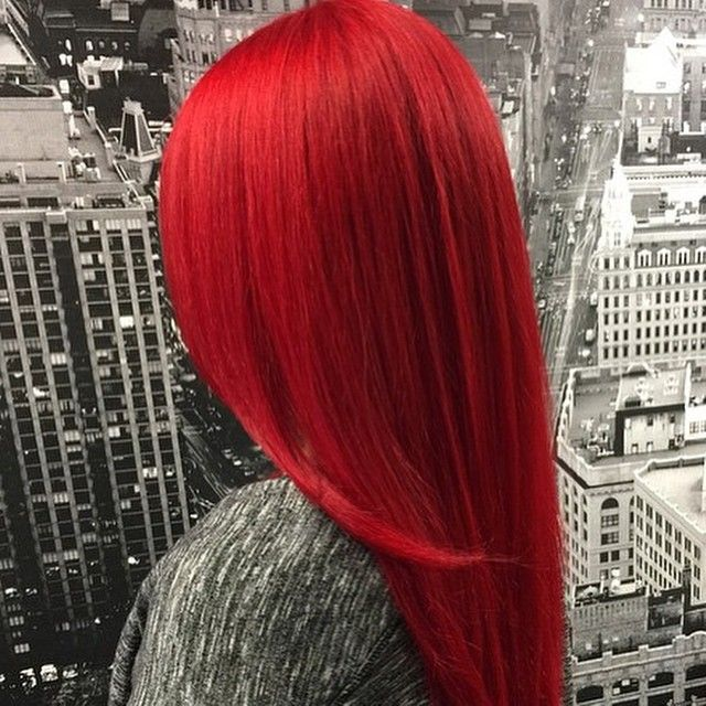 Bright Vivid Red with Pravana - Hair Colors Ideas