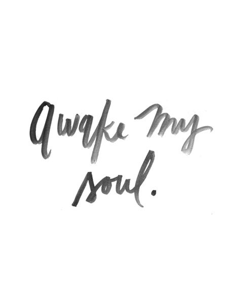 Awake my Soul - Watercolor Print  Stretched Canvas