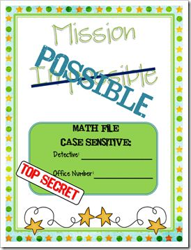 Mission Possible folders for math morning meeting work. LOVE the organization
