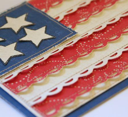 Cute flag card: Wedding Cards, Cards 4Th, July Flag, Easy Card, Patriotic Card, July Card, 4Th Cards