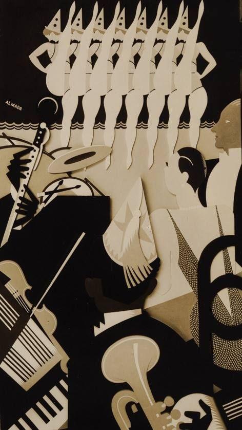 Almada, 'Hands up!', painel em relevo, Cine San Carlos, Madrid, 1929