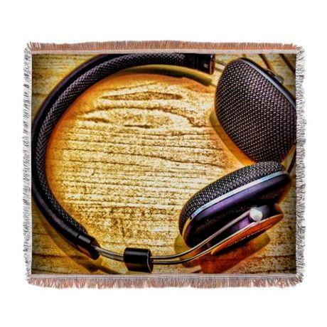 Headphones Woven Blanket by AngelEowyn. $69.99