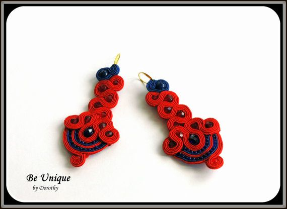 FREE SHIPPING/Soutache/Soutache Earrings/RED by BeUniqueGallery