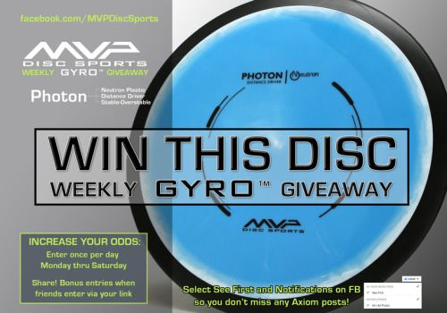 Win a Neutron Photon Disc Golf Driver from MVP Disc Sports! {WW}... IFTTT reddit giveaways freebies contests